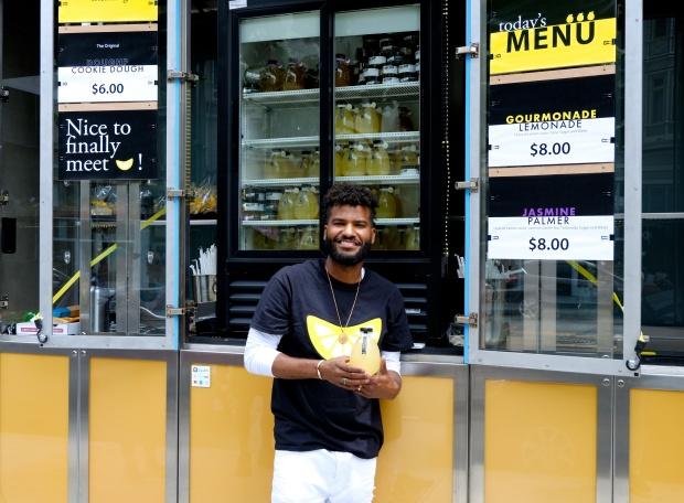 Man holding lemonade